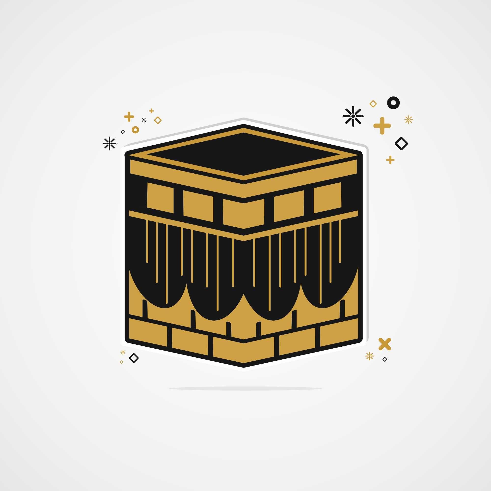 Ka Bah Vector Mosque Drawing Islamic Paintings Grand Mosque