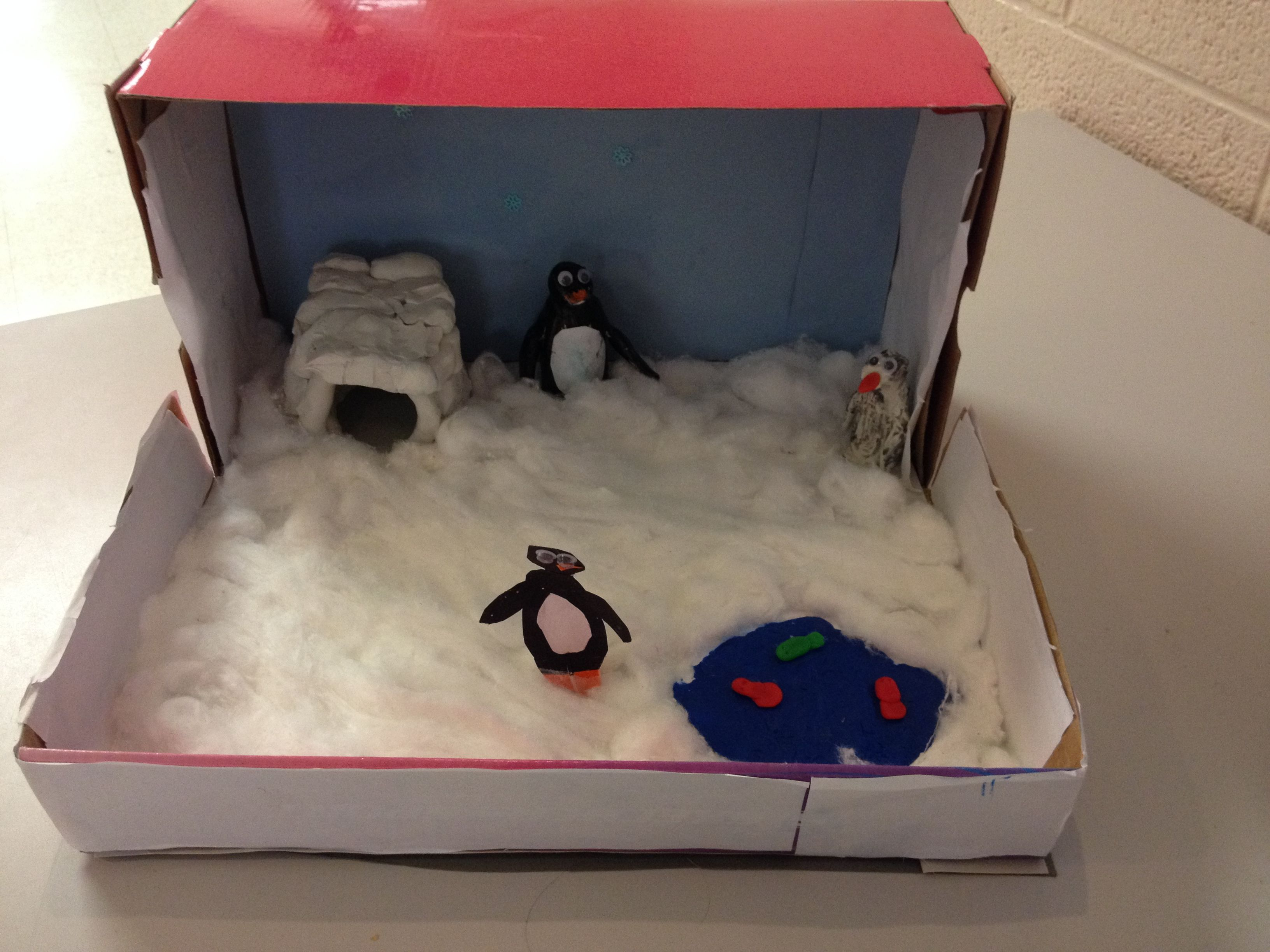 Penguin Habitat Diorama Made By Gr 4 Student