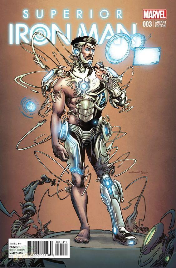 Superior Iron Man #1 2016 Marvel Second Printing