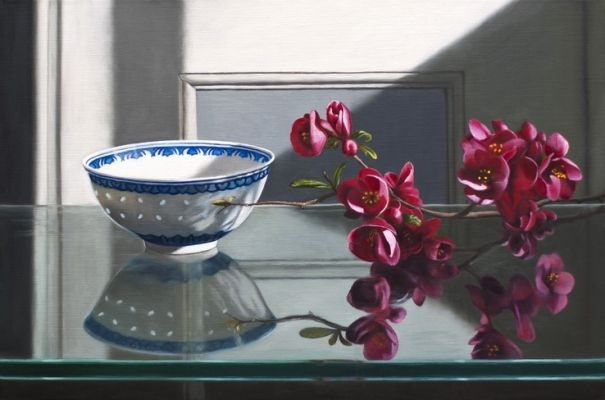Rice Bowl and Spring Blosssom by Andrew McNeile Jones