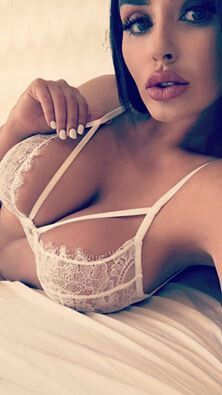 in Huge lacey bras breasts