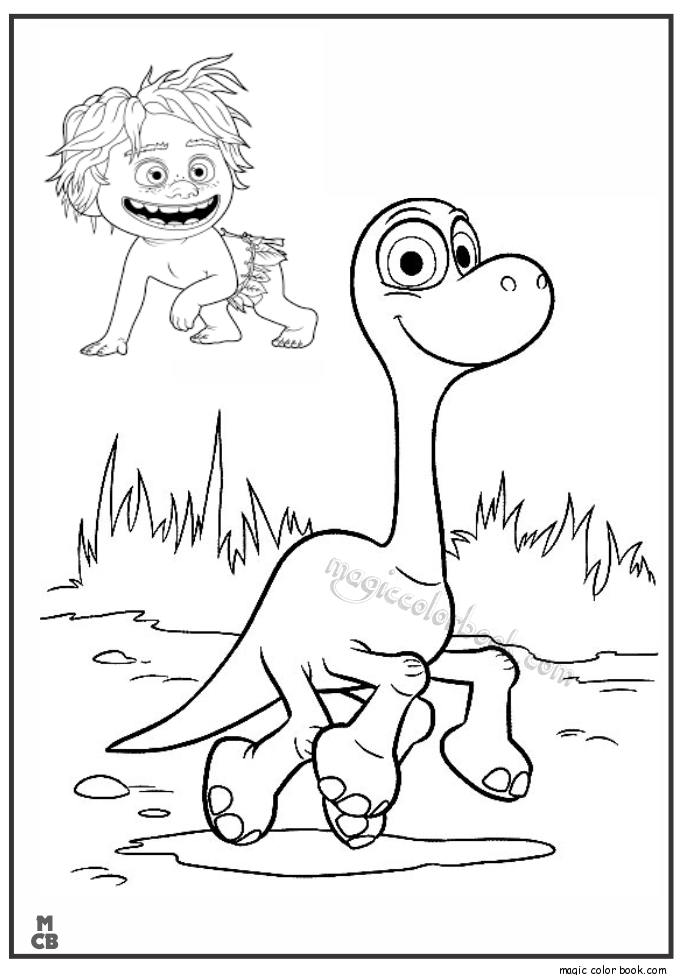Good dinosaur coloring pages free print