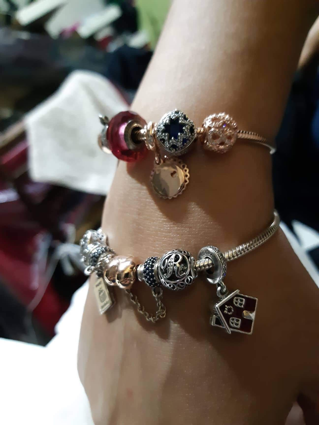 my sister's and mine Pandora, Pandora charm bracelet
