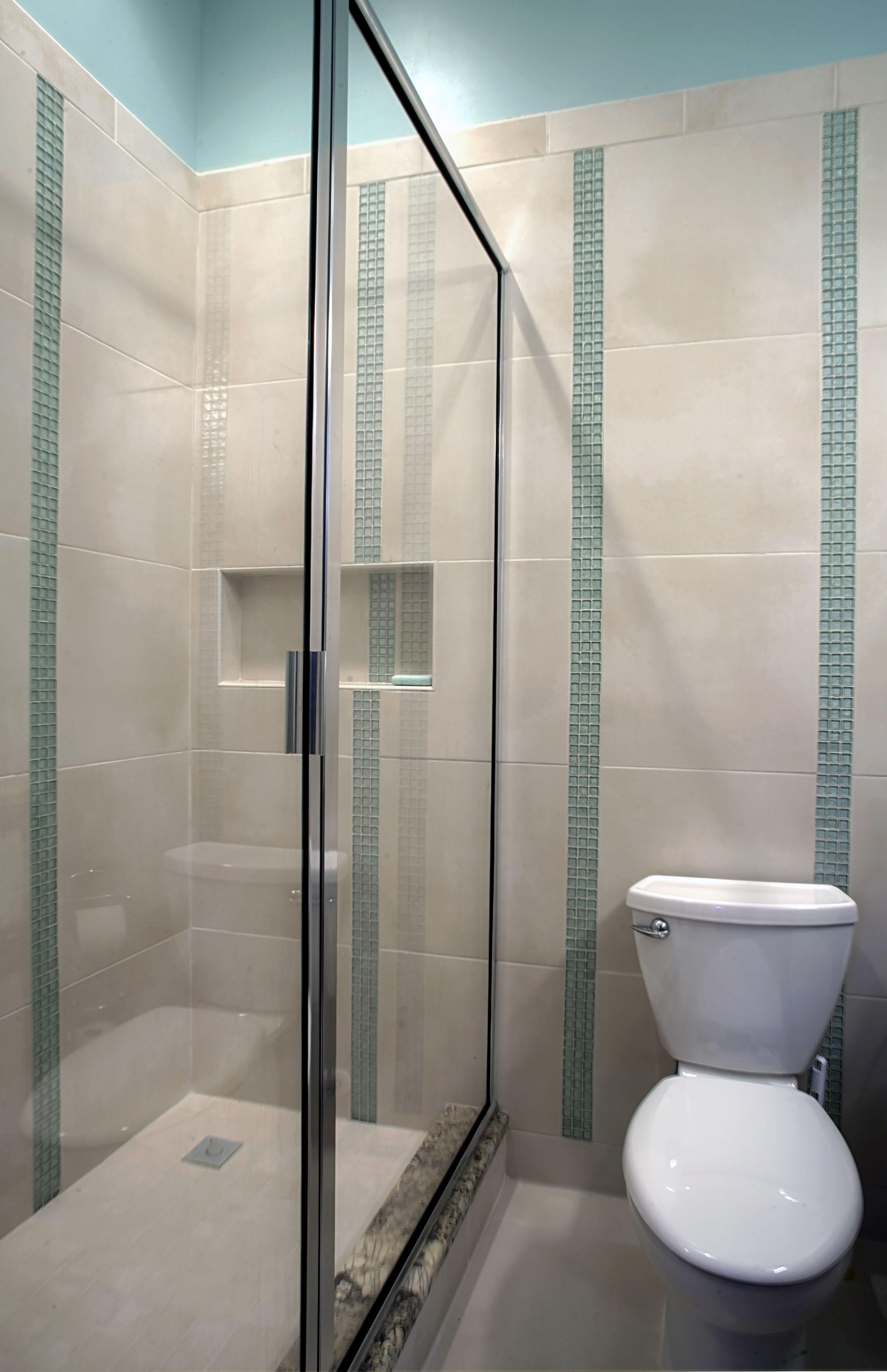 Bathroom Fresh Minimalist Small Shower Bathroom Ideas Photo Gallery With  Glass Door And Modern Blue Tiling Idea Ingenious Simple Small Guest Bathroom  Design ...