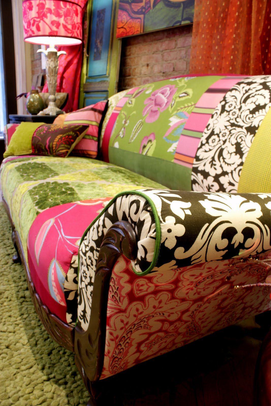 Repurposed Vintage Furniture From Designers Guild Fabric