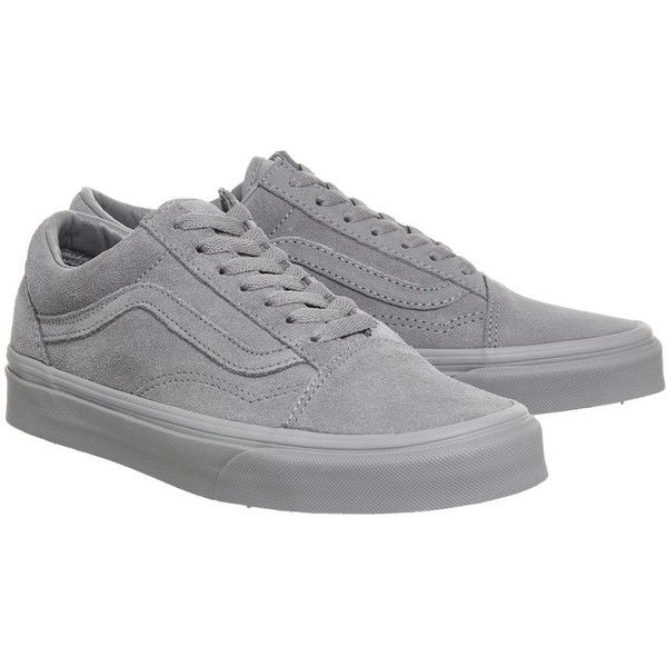 Vans supplied by Office Vans Old Skool Trainers 86 liked on Polyvore featuring shoes sneakers grey lace up shoes vans shoes vans sneakers
