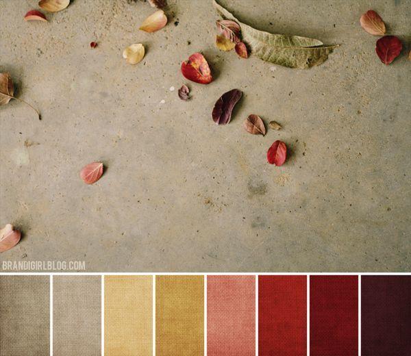 autumn color palette  Autumn Color Palette  Color Palettes  Pinterest  페인트 ...