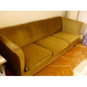 sofa velour 3 pers Sofa, velour, 3 pers., støvgrøn (1.500,00) | Indretning! | Pinterest sofa velour 3 pers