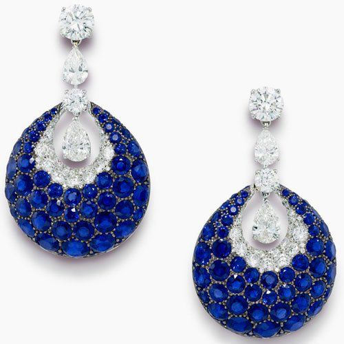 Graff Diamond & Sapphire Earrings