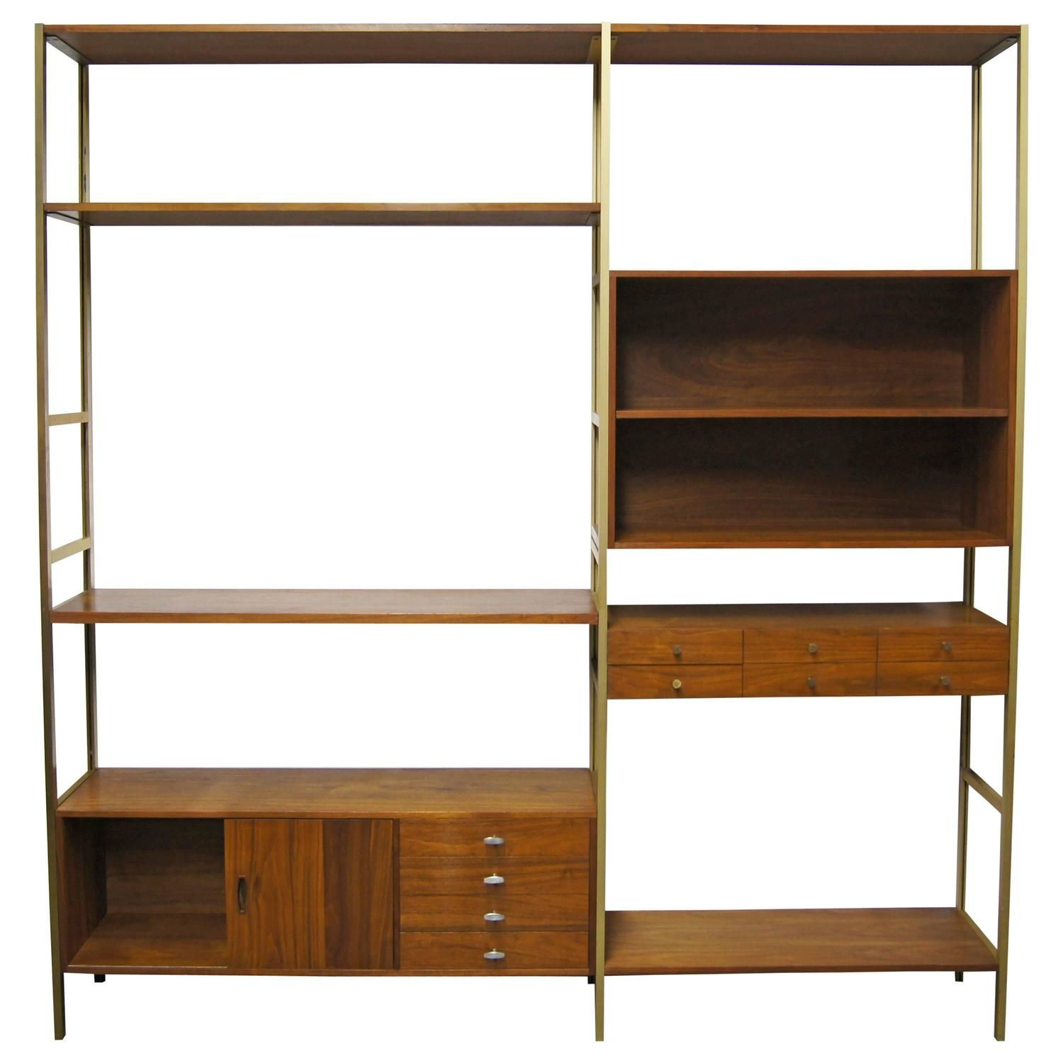 Modular Shelving Unit by Paul McCobb for H. Sacks & Sons | From a unique collection of antique and modern shelves at https://www.1stdibs.com/furniture/storage-case-pieces/shelves/