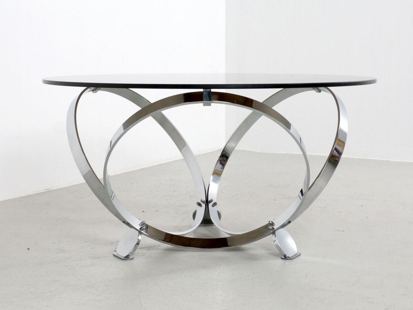 Round Gl And Chrome Coffee Table Modern Affordable Furniture Check More At Http Www Nikkitsfun