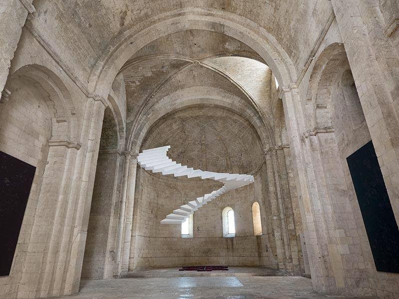 Sacred Space: Sabina Lang and Daniel Baumann, Beautiful Steps #4, Mon île de Montmajour, Abbaye de Montmajour, Arles, France, 2013
