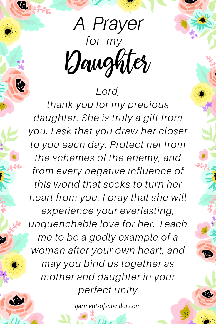 Seven Powerful Prayers for your Daughter (with Free Printables!) -