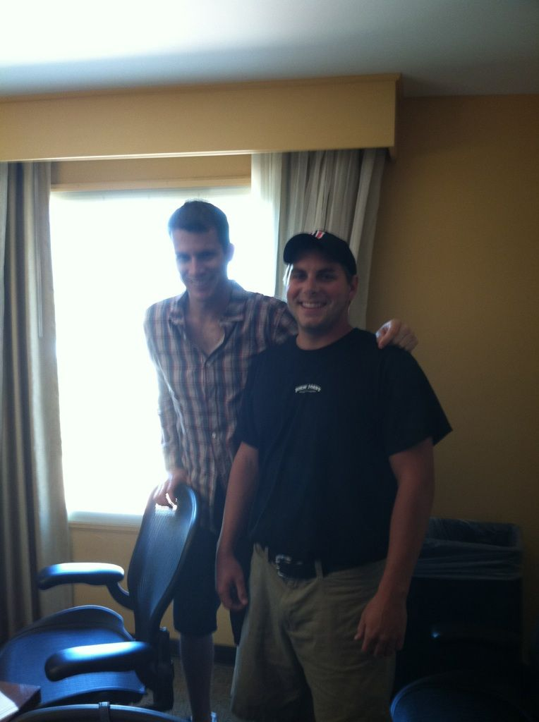 daniel tosh of tosh0 takes a quick pic with his jjs