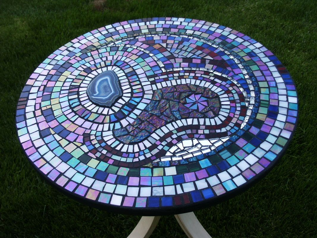 Mosaic Table Top by Snake Woman Creations
