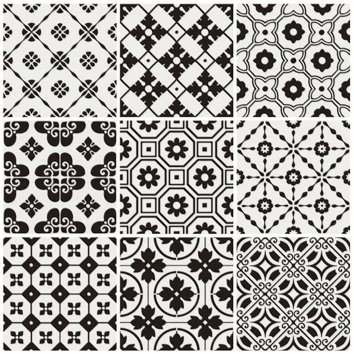 Decorative Porcelain Tile Enchanting Laccio Black And White Decorative Porcelain Tiles From Mandarin Design Ideas
