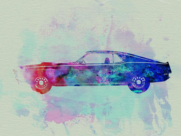 Ford Mustang Watercolor 1 Art Print By Naxart Studio Graphic Art Print Watercolor Graphic Art