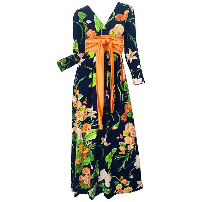 dbe92757ae43 1960's Marimekko Vintage Summer Dress Orange & Yellow Print Cotton Size 8  in 2019   1960s Fashion   Vintage summer dresses, Dresses, Summer dresses