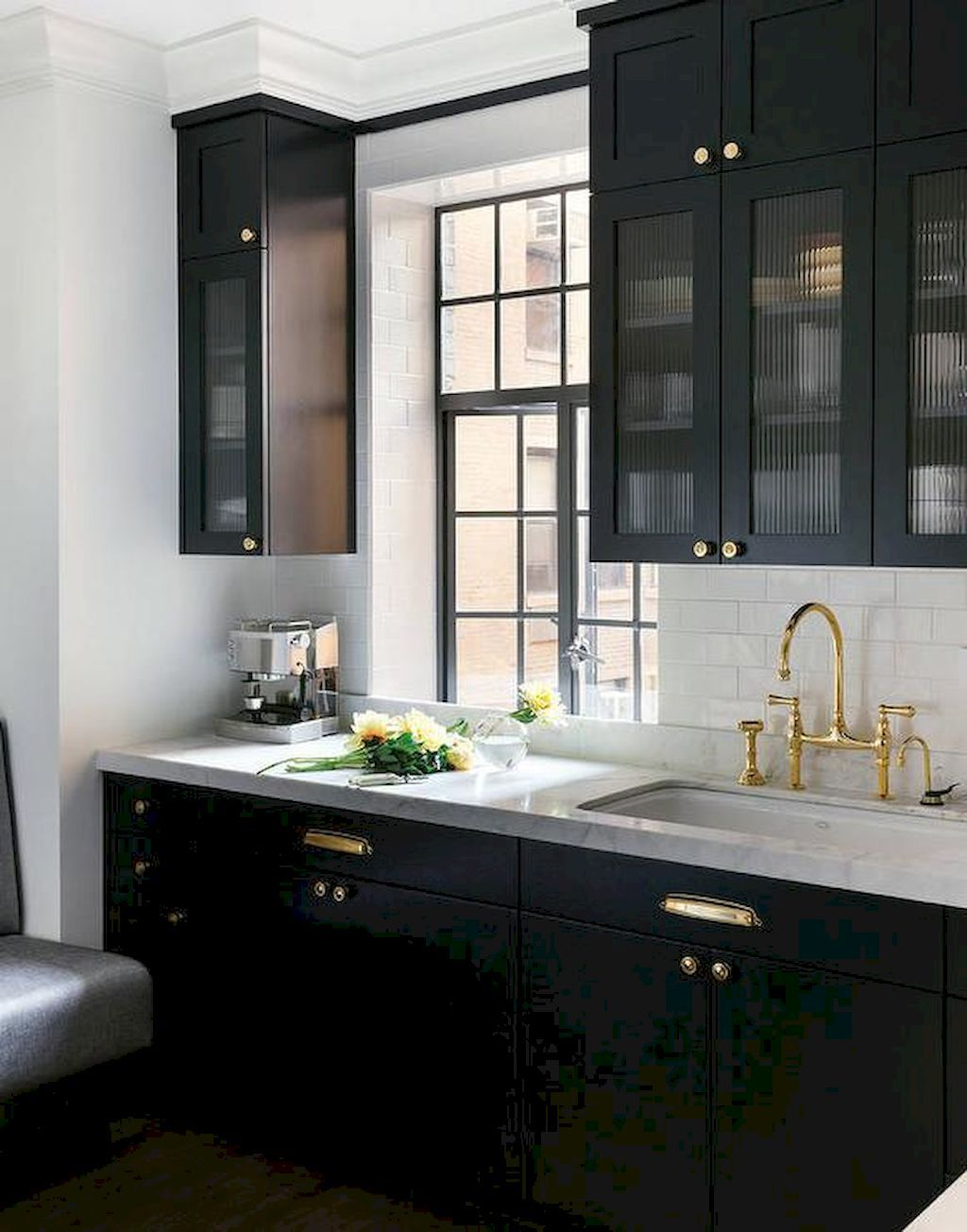 Awesome 60 Black Kitchen Cabinets Design Ideas Https Coachdecor Com 60 Black Kitchen Cabinets De Kitchen Cabinet Design Black Kitchens Black Kitchen Cabinets