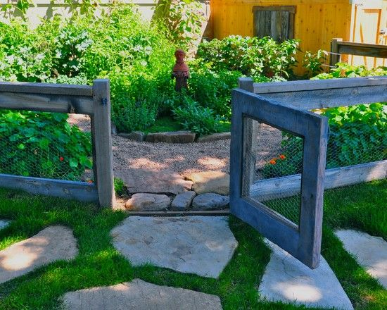 Simple vegetable garden fencing ideas eclectic landscape for Fencing ideas for vegetable gardens