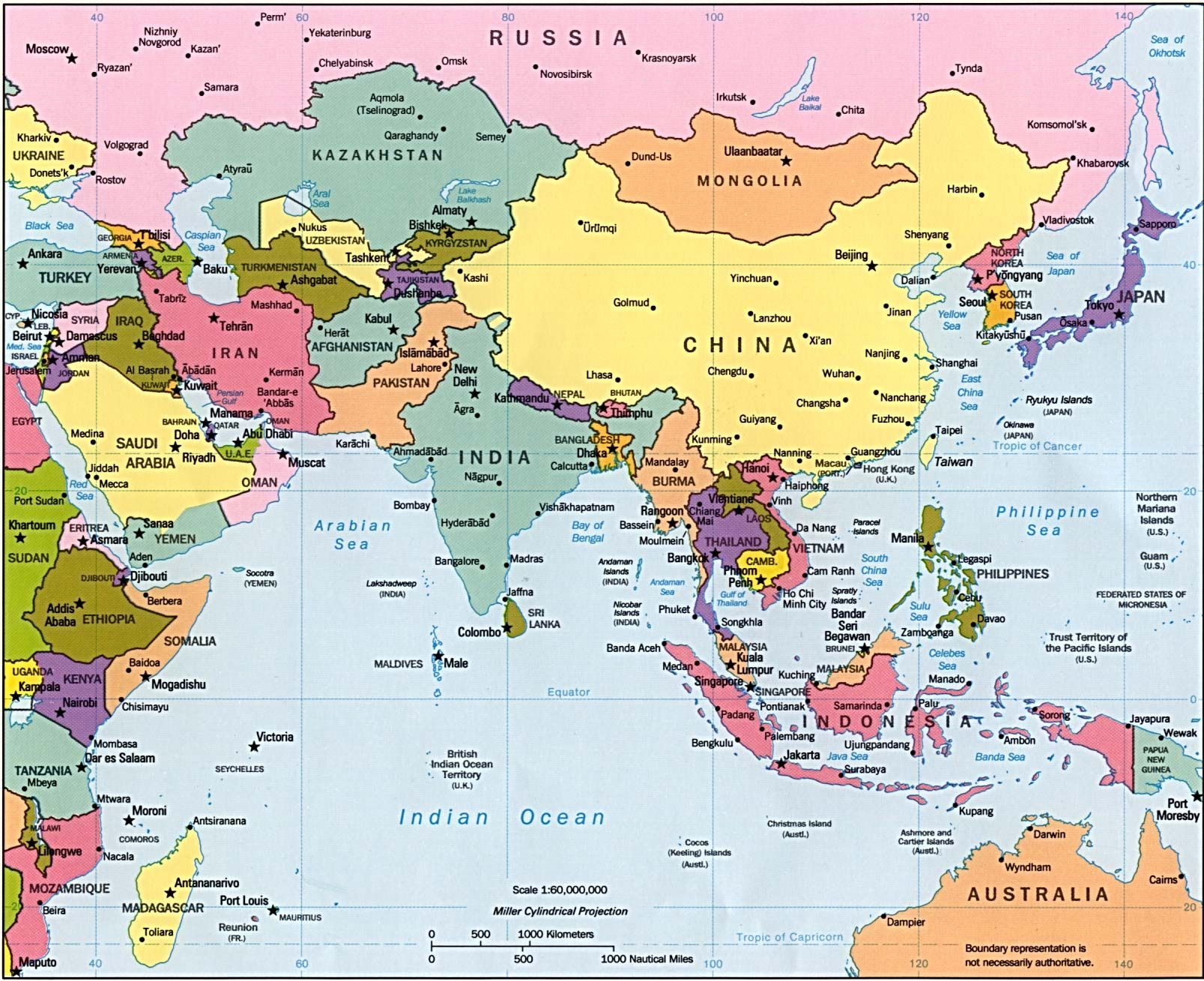 Map Of Asia With Cities African Countries Game Cities In Southwest Asia Maps Of Capital