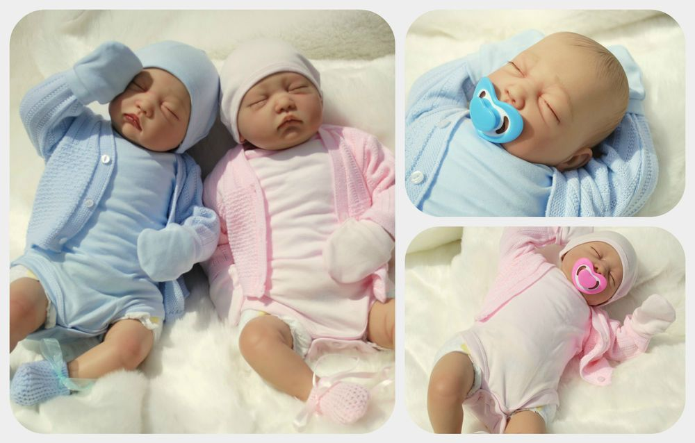 Child · reborn baby twins my fake babies realistic 22 big newborn 2 dolls girl