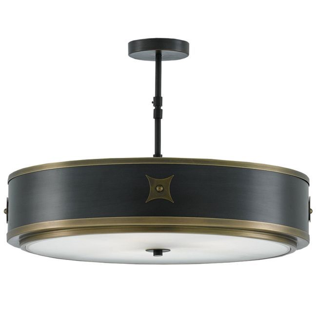 Huntsman semi flush ceiling light currey and company at lightology