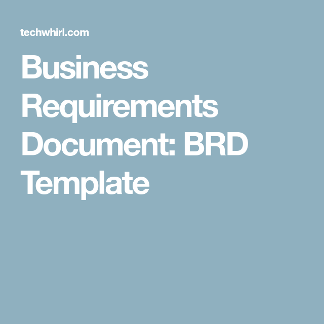 Business Requirements Document Brd Template Sdsoftware