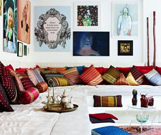 Pin On Interiors Modern Ethnic