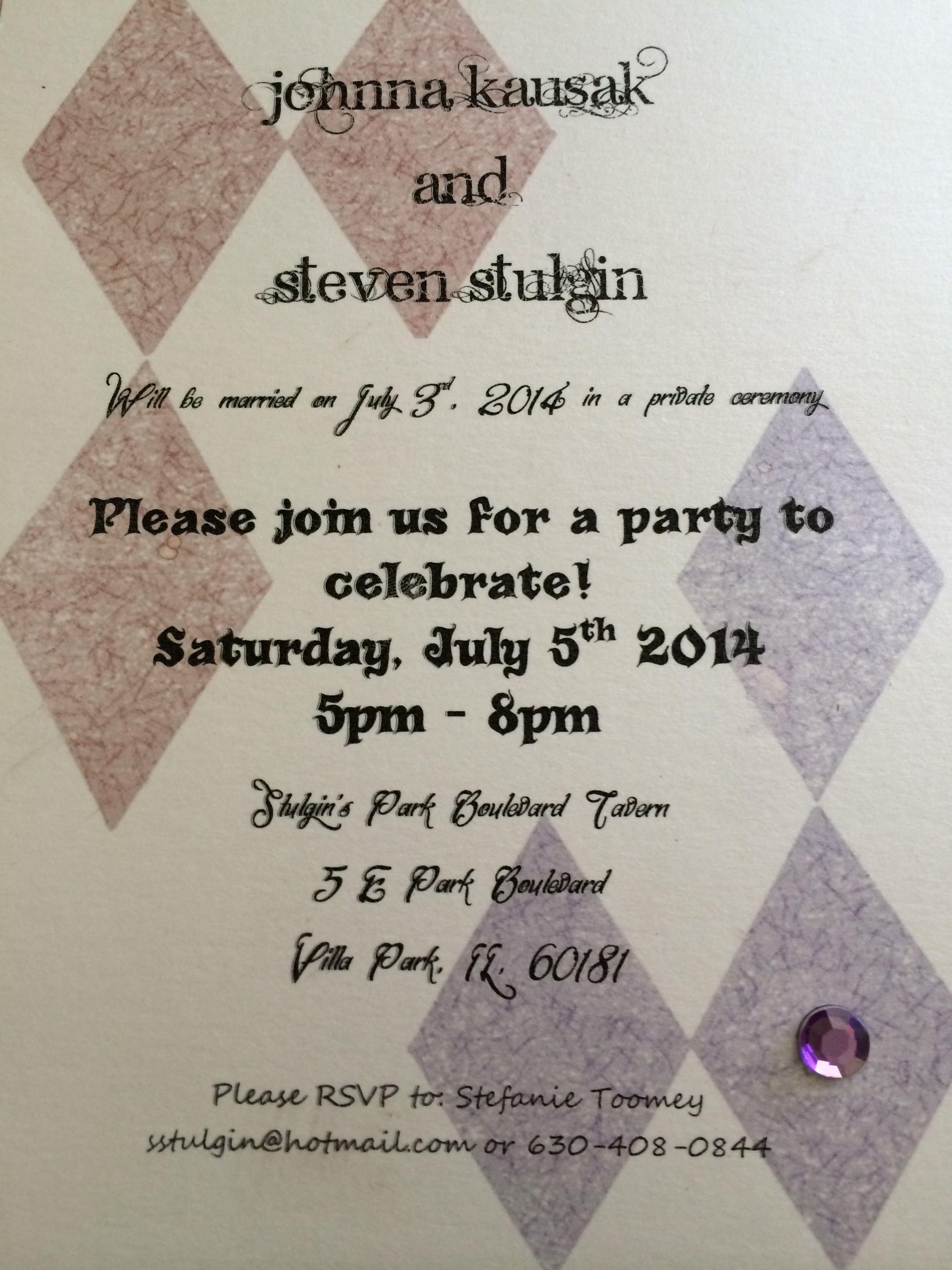 DIY Wedding Reception Invitations Joker Harley Quinn Mad Love