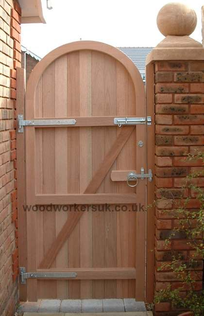 Semi Circular Arched Hardwood Gates Wooden Garden Gate Arch Gate Garden Gates