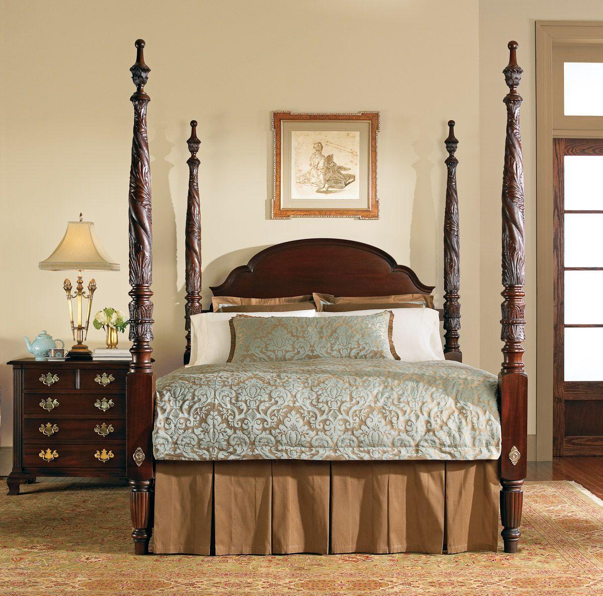 Interior Design Colonial Williamsburg: Stickley Colonial Williamsburg Bed #bedroom