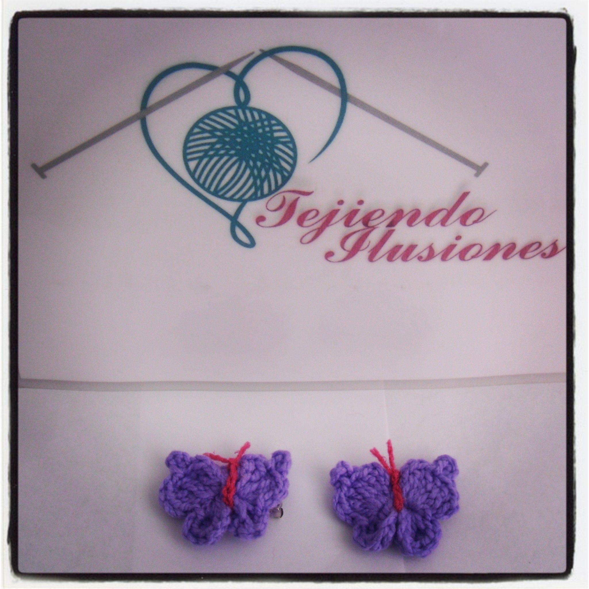 Modelo N° 4: Pasadores Mariposa Lilas, prendedores de mariposa ...
