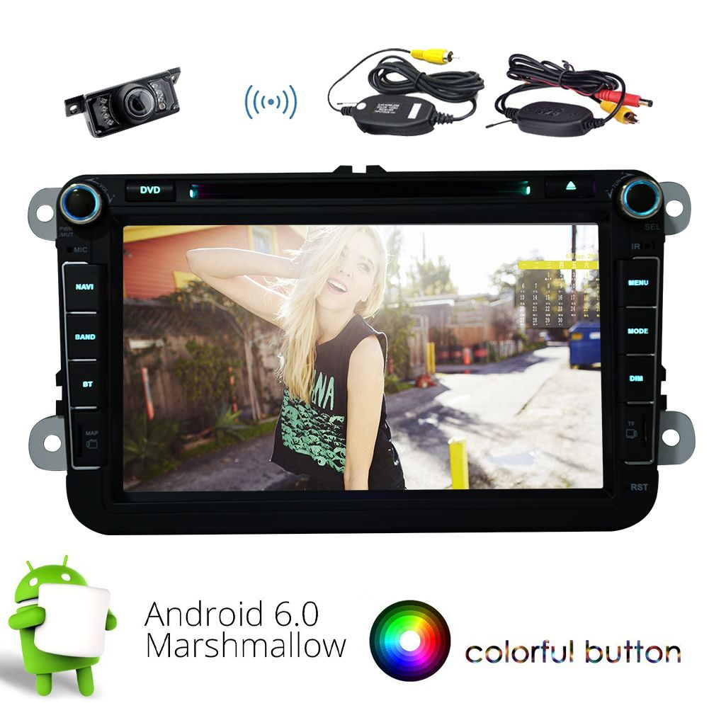 Wireless Backup Camera!!New Android 6.0 Stereo System Quad