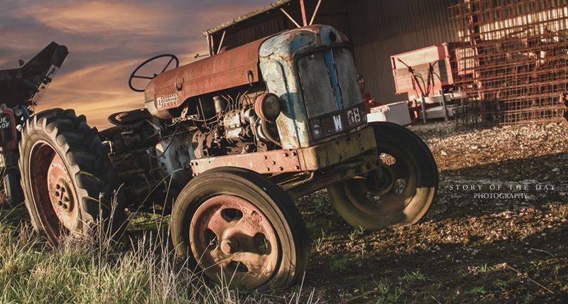 The rusty old tractor