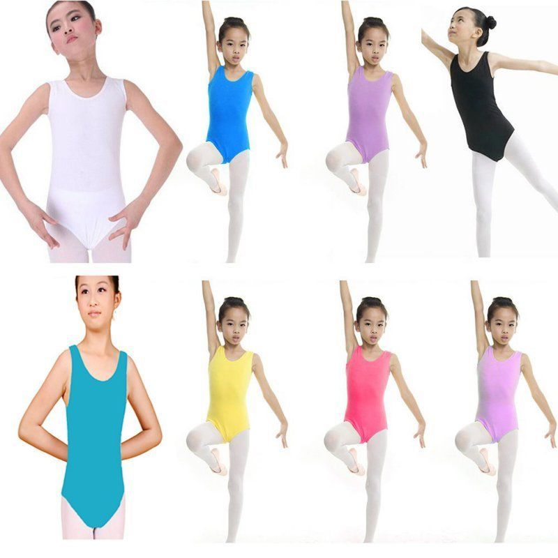21b9a1bd9 Kids Girls Gymnastics Leotard Dacing Costume Stretch Bodysuit ...