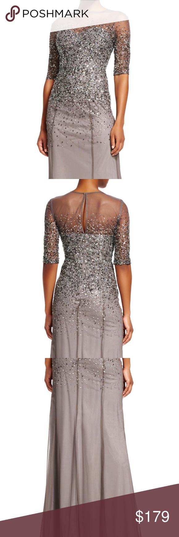 Adrianna papell sequin bodycon dress quartz valley dubai