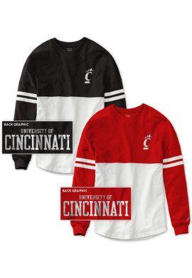 b18825cf2 Product  University of Cincinnati Women s Color Block RaRa Long Sleeve T- Shirt