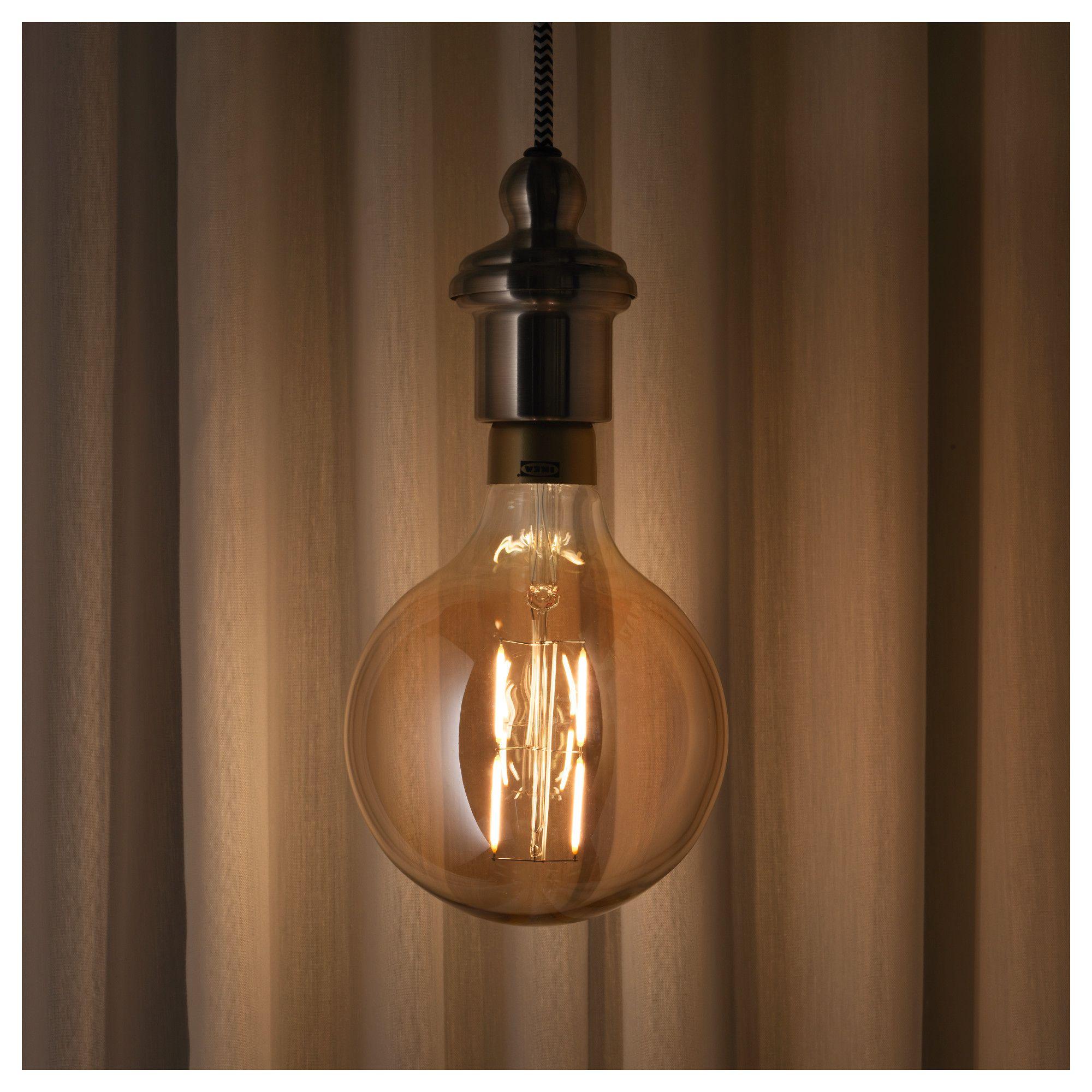 Lunnom Led Bulb E27 400 Lumen Dimmableglobe Brown Clear Glass 125