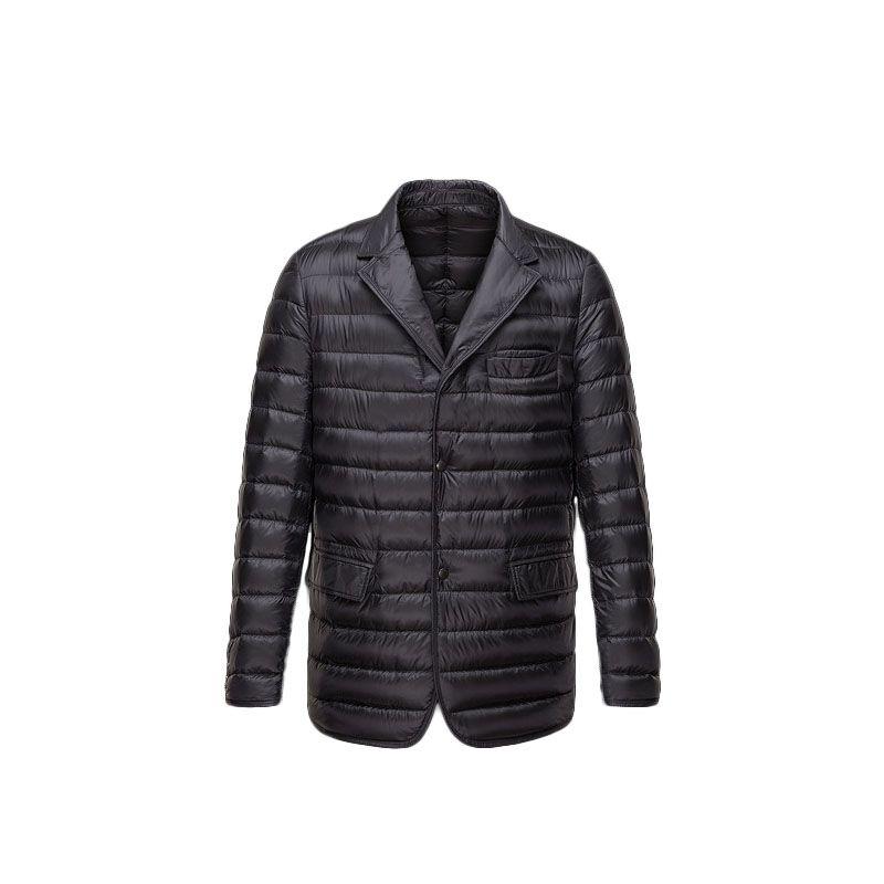 8c5b5eeaa Men Moncler Black Brun Classic Warm Blazer Jacket