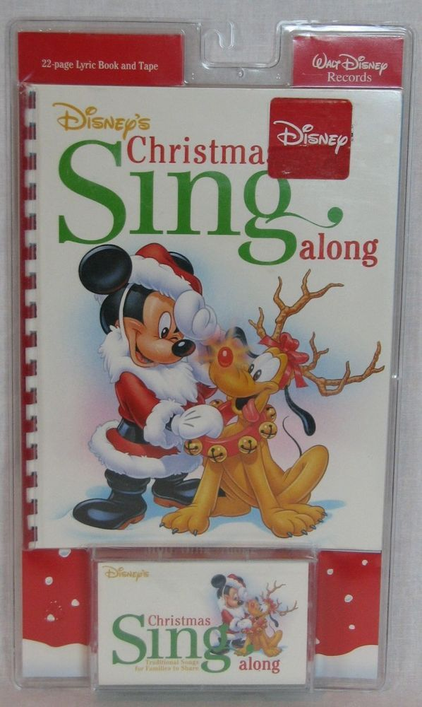 walt disney records christmas sing along cassette 1995 sealed songbook lyrics