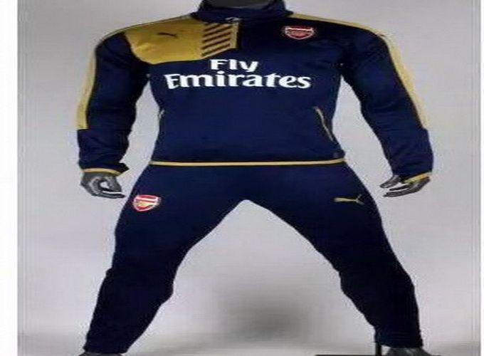 buy popular 88187 55a0b 2015-2016 Arsenal Navy Blue Training Tracksuit Suits ...