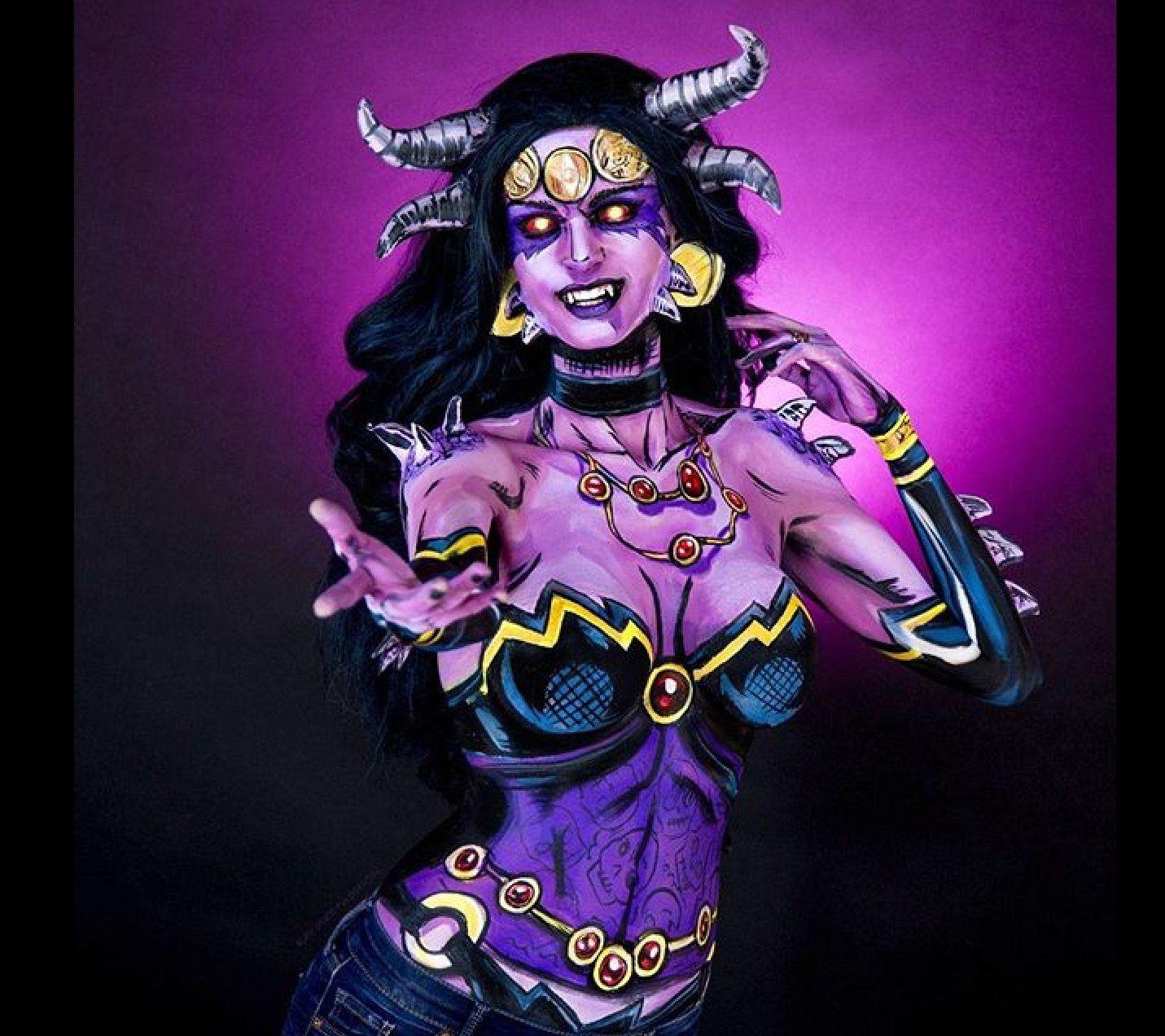 Duas Caras Kay Pike | Body painting, Kay pike, The incredibles