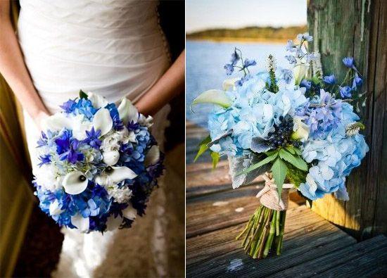 07 Brautstrauss Blau Weiss Beispiel Lilie Fotografie Eine Blaue