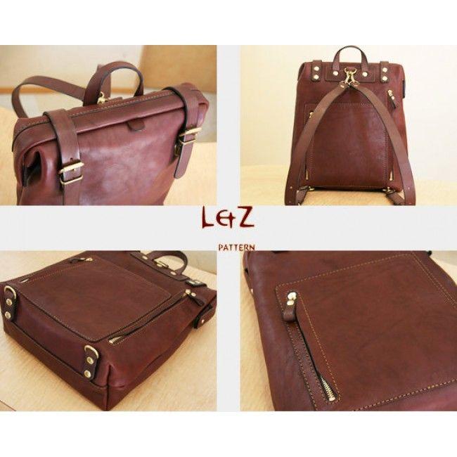 Pdf Bag Patterns Sewing Rucksack Backpack Knapsack Bdq 23 Lzpattern Hand Sched Leather