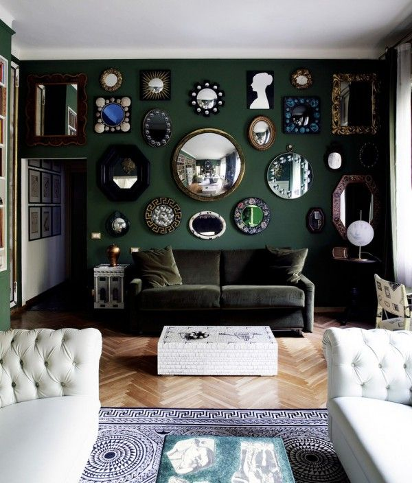 New Ways To Decorate With Hunter Green Dark Green Living Room