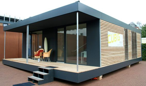 neues wohnen im cubig designhaus minihaus haus ideen. Black Bedroom Furniture Sets. Home Design Ideas