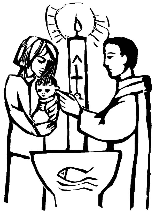 Christian Baby Baptism Coloring Pages : Best Place to