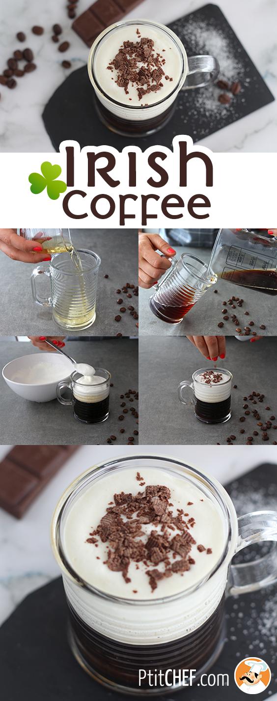 Irish coffee, Recette Ptitchef