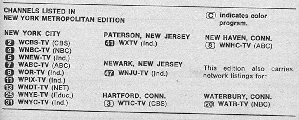 New York Metropolitan Edition (May 16, 1970) | TV Guide edition | Tv